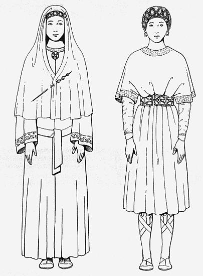 Königin Arnegunde. Zeichnung von Max Martin.